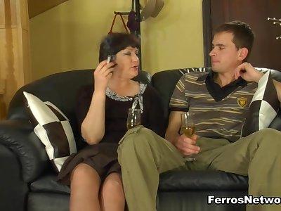 MaturesAndPantyhose Video: Emilia B and Charles