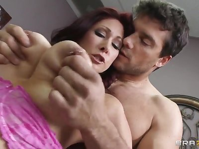 Tiffany Mynx is entertaining Ramon with her perky tits and blowjob
