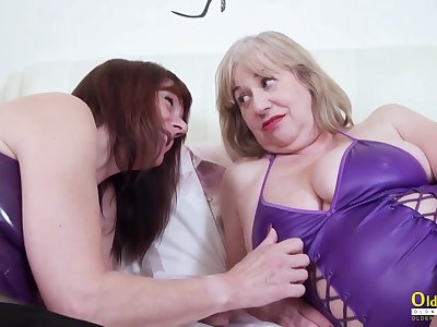 Current womanly love and these mature BBWs love sapphic sex