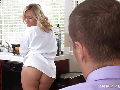 Blonde sluts riding one wide-ranging dick - Alena Croft and Kennedy Leigh