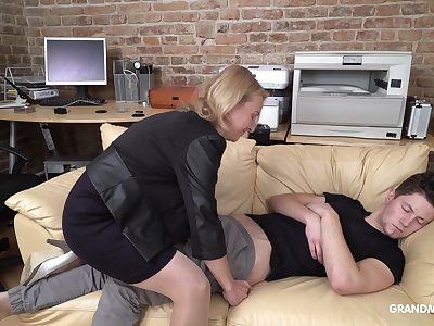 Cock starved mature German lady wakes up say no to stepson with oral sexual relations